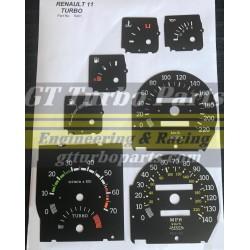 Diales cuadro de instrumentos R11 Turbo