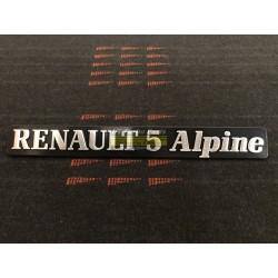 """Renault 5 Alpine"" badge"