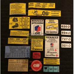 Complete sticker set of infos