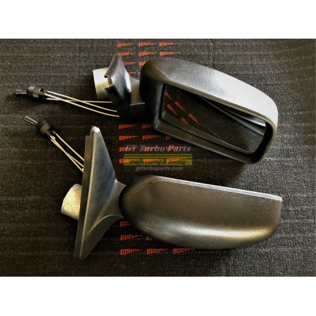 Pair of side mirrors with internal adjustment.